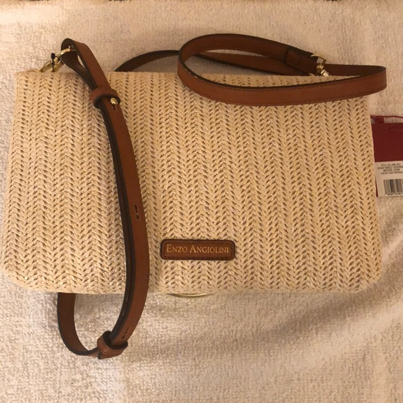 Enzo Angiolini Handbags - Enzo angiolini straw crossbody bag